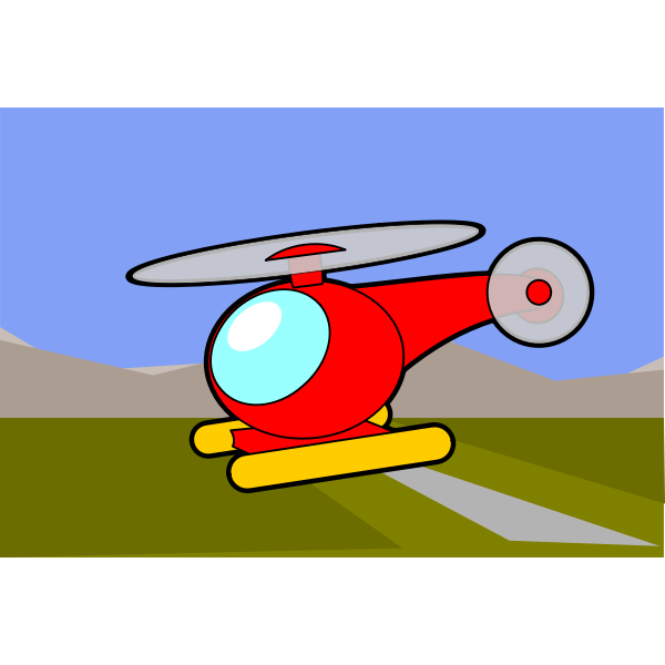 Cartoon image of a helicopter