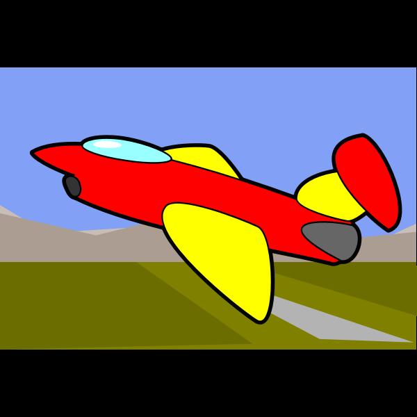 Cartoon image of an aircraft