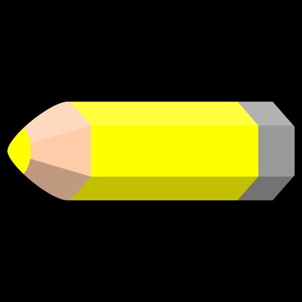 Vector image of a pencil