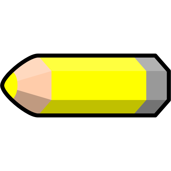 Vector image of a pencil