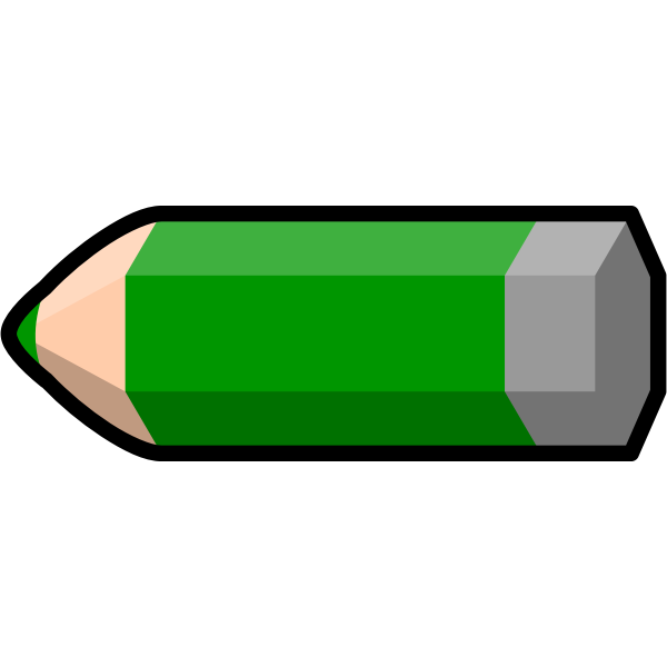 Vector illustration of thick green pencil