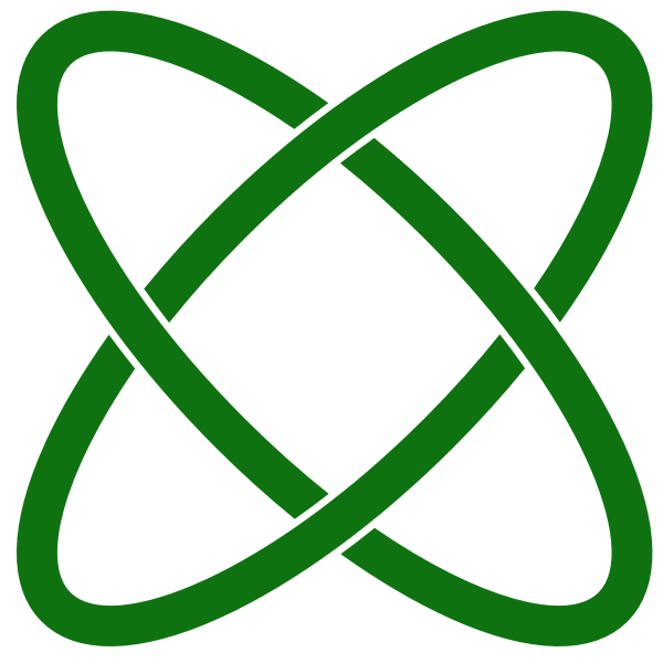 Vector graphics of atom path sign