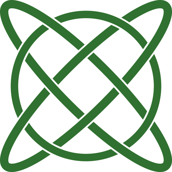 Vector image of atom path sign in a circle