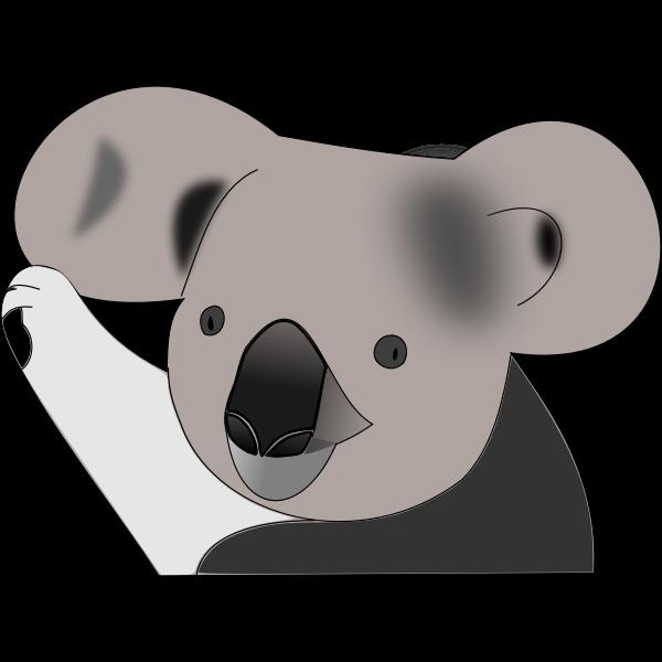 Funny koala bear vector image