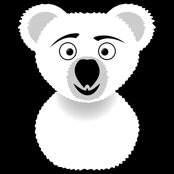 Koala line art vector illustration
