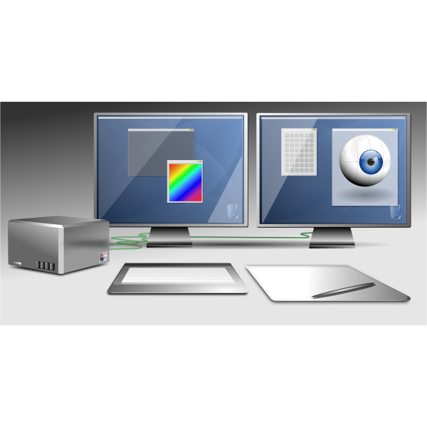 Graphic workstation vector image