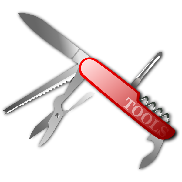 Swiss army knife photorealistic vector clip art