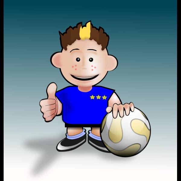 Vector illustration of soccer cartoon