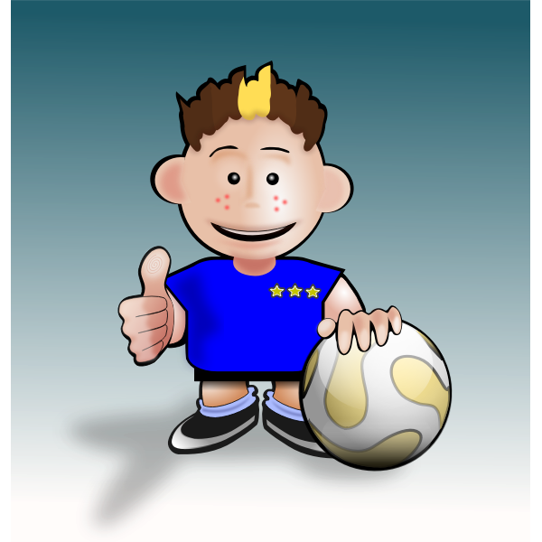 Vector illustration of soccer cartoon