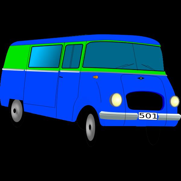 Vector graphics of van