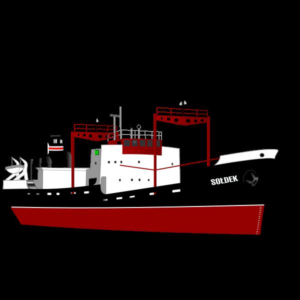 Soldek freight ship vector clip art