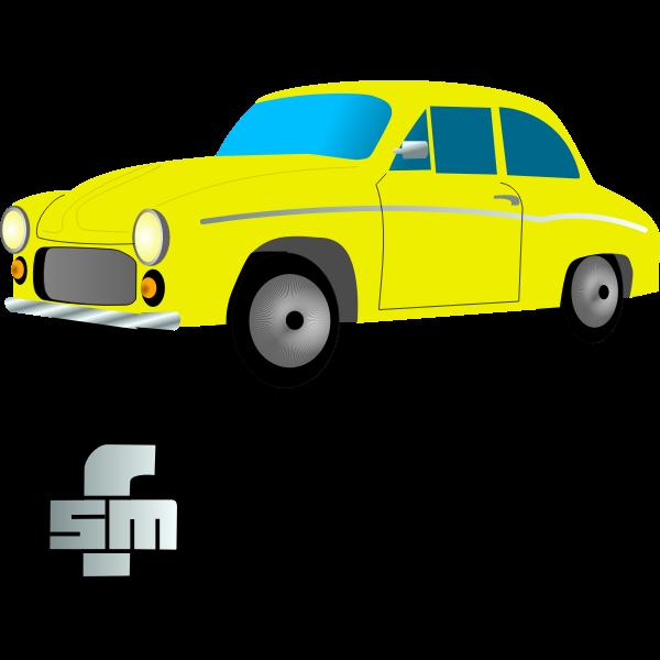Syrena 105 Car Vector