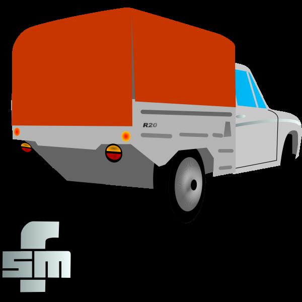 Syrena Pick-up Car Vector