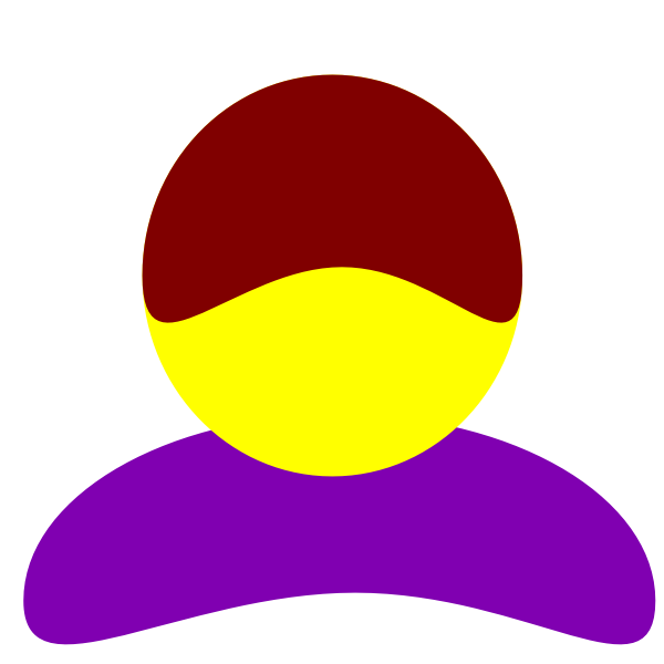Vector image of purple body avatar