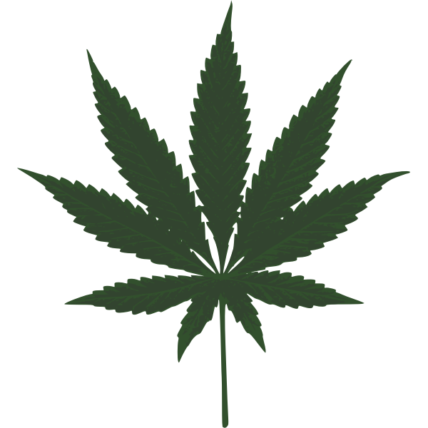 Cannabis Leaf Vector Image Free Svg