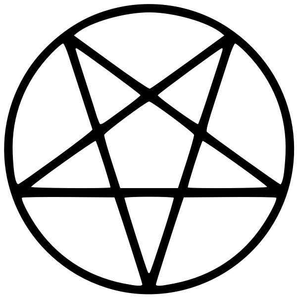 Pentagram vector illustrtaion