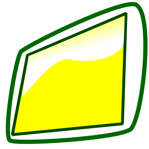 Tablet icon with green frame vector image