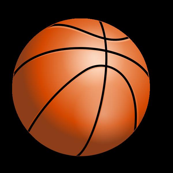 Vector drawing of basketball ball