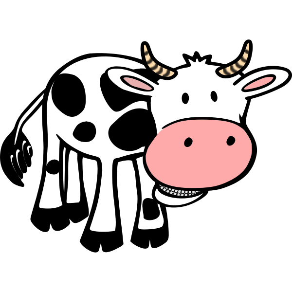 chewing cow vector clip free svg