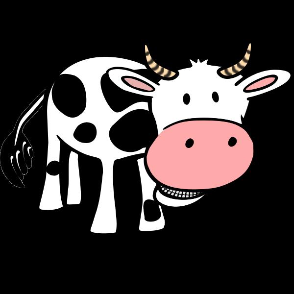 Chewing cow vector clip art