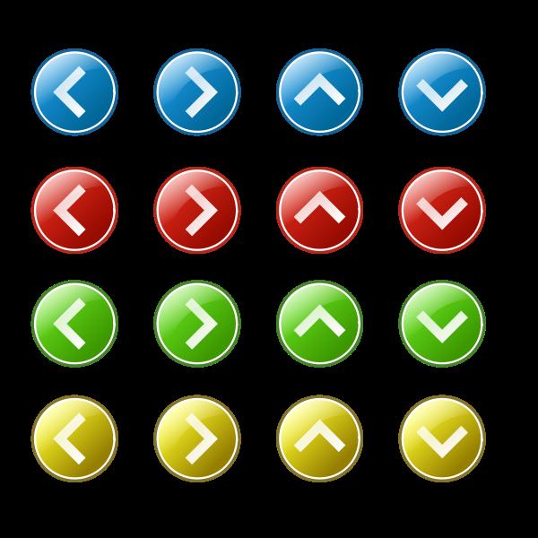 Arrow button set vector images