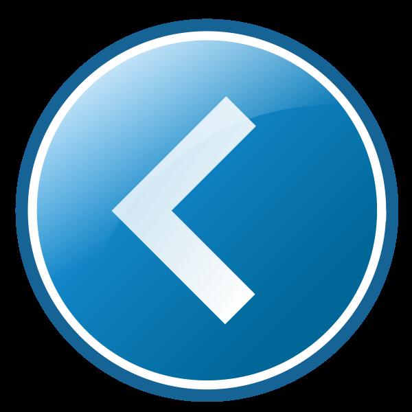 Left arrow icon vector image