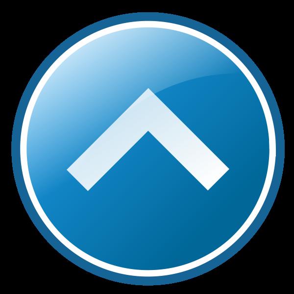 Up arrow icon vector image