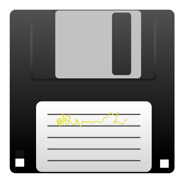Vector image of a floppy disk