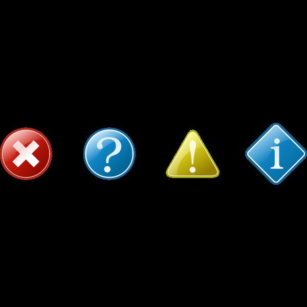 Website information and eroor icons vector image