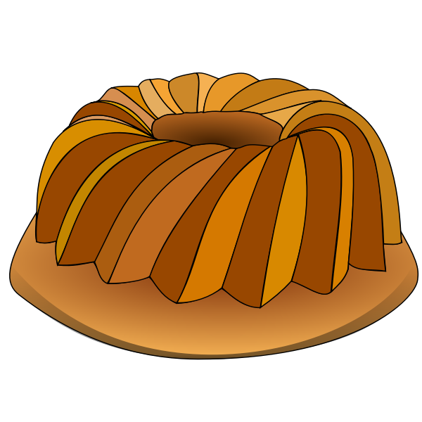 Vector graphics of flan sponge cake