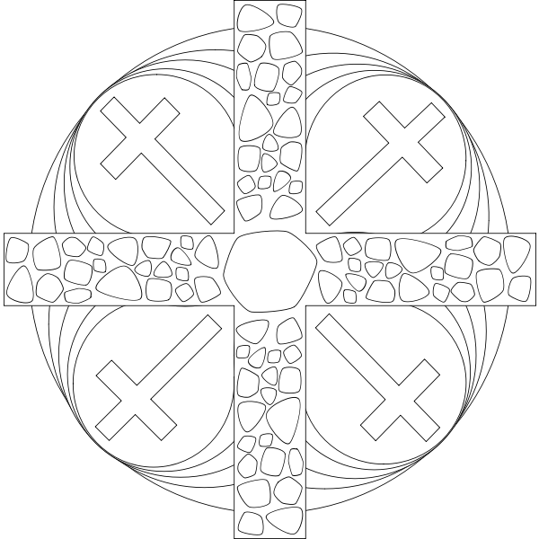 Vector graphics of Passiontide Mandala