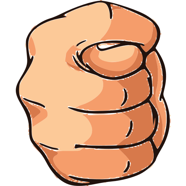 Hand gesture with thumb