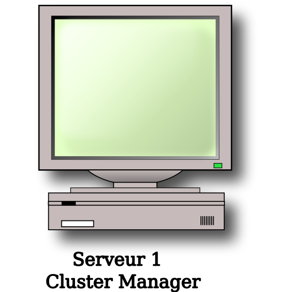 Server with screen vector image