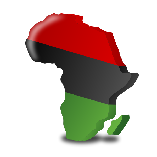 The Pan-African flag vector graphics