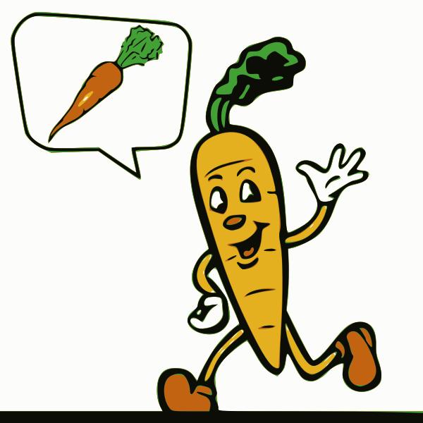 Cartoon carrot image