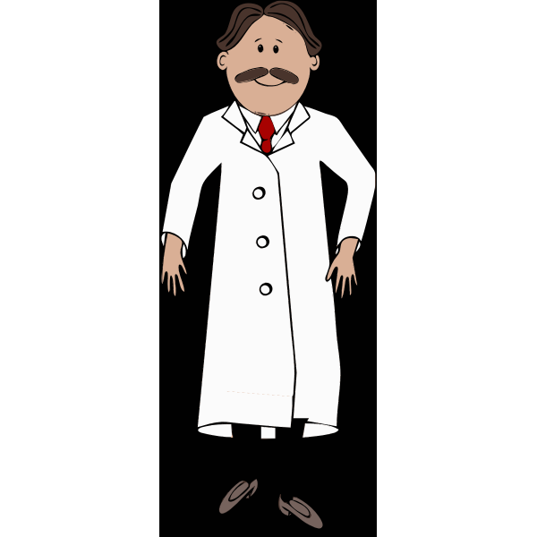 Scientist with mustache