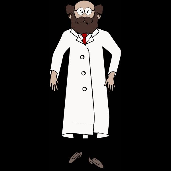 Bearded scientist vector image