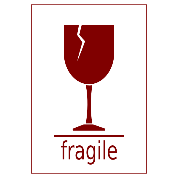Fragile Goods Vector Symbol