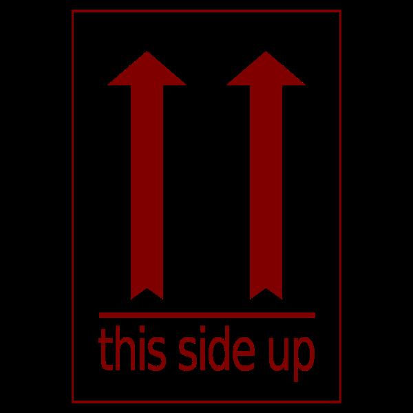 Side-up Vector Label