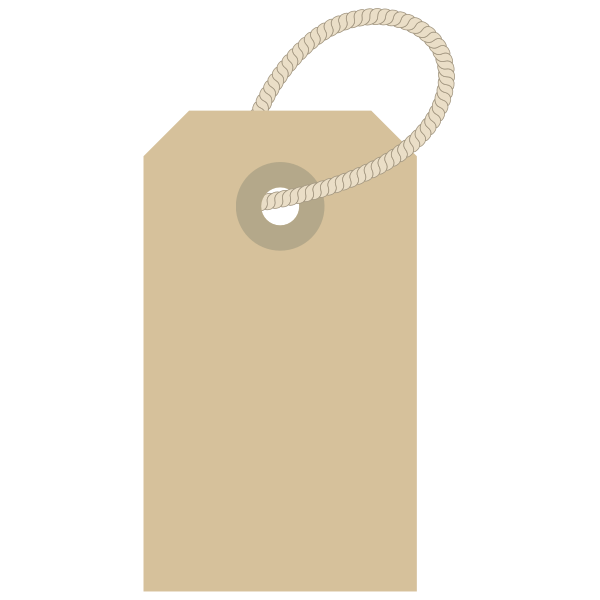 Clothing Label with Rope Vector