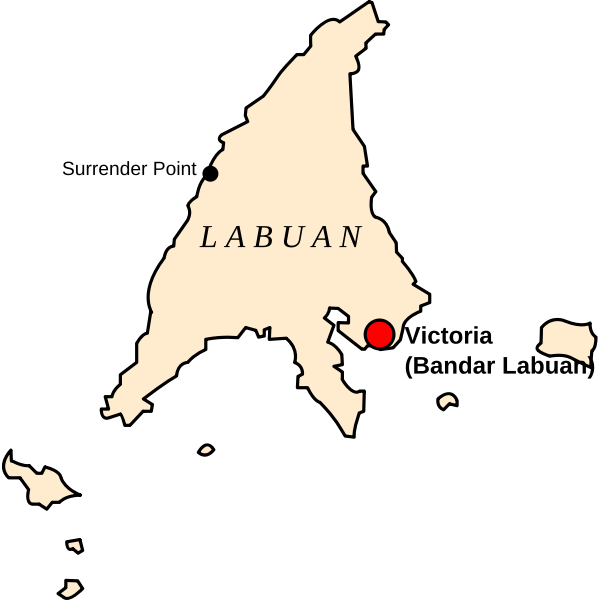 Map of Labuan, Malaysia