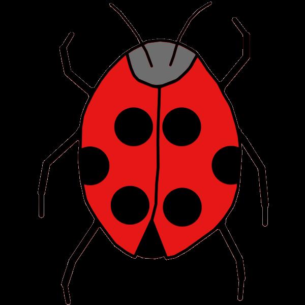 Line art vector illustration of simple ladybag