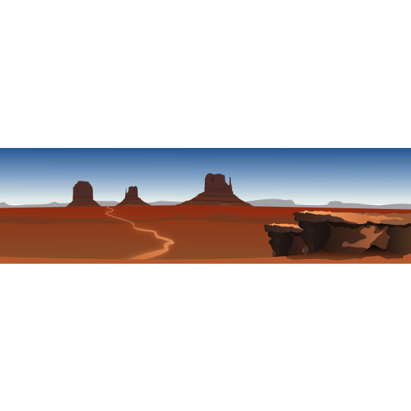Vector graphics of landscape America