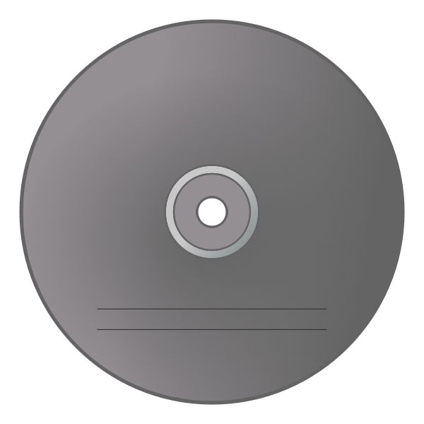 Grey CD label vector image