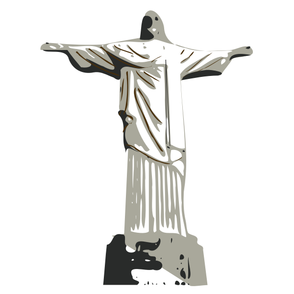 Vector illustration of Christ the Redeemer statue