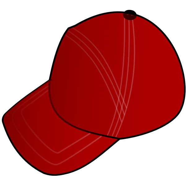 Red cap vector image