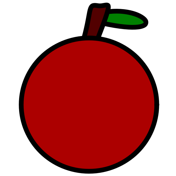 Simple apple icon vector drawing