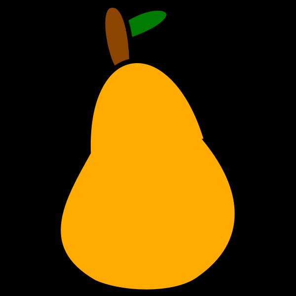 Cartoon pear vector illustration