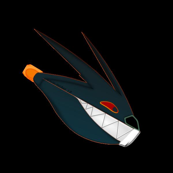 Rocket shark cartoon vector image