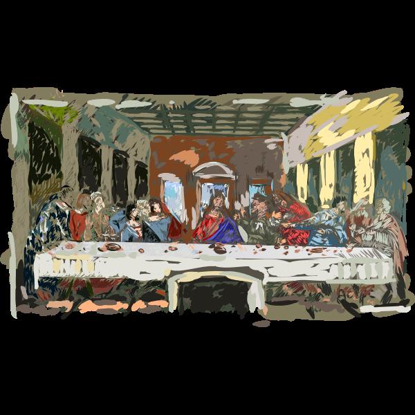 Last supper vector illustration